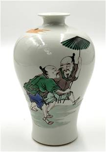 Old Chinese Vase, Signed Underneath.