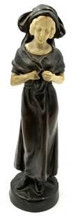 Peter Tereszczuk Signed Art Deco Bronze of Woman.