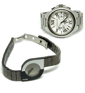 Lot: Michael Kors Men's Watch & Rado Ladies' Watch