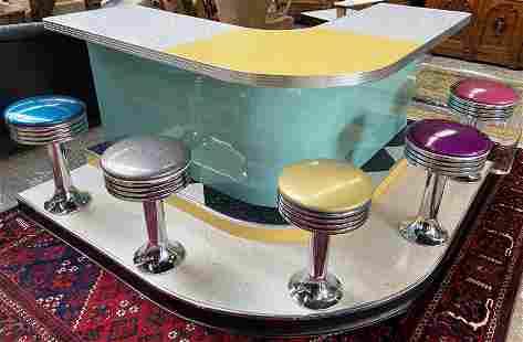 1950's Retro-Style Soda Fountain Bar.