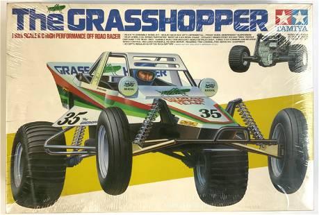 Vintage Tamiya Grasshopper RC Remote Control Car.