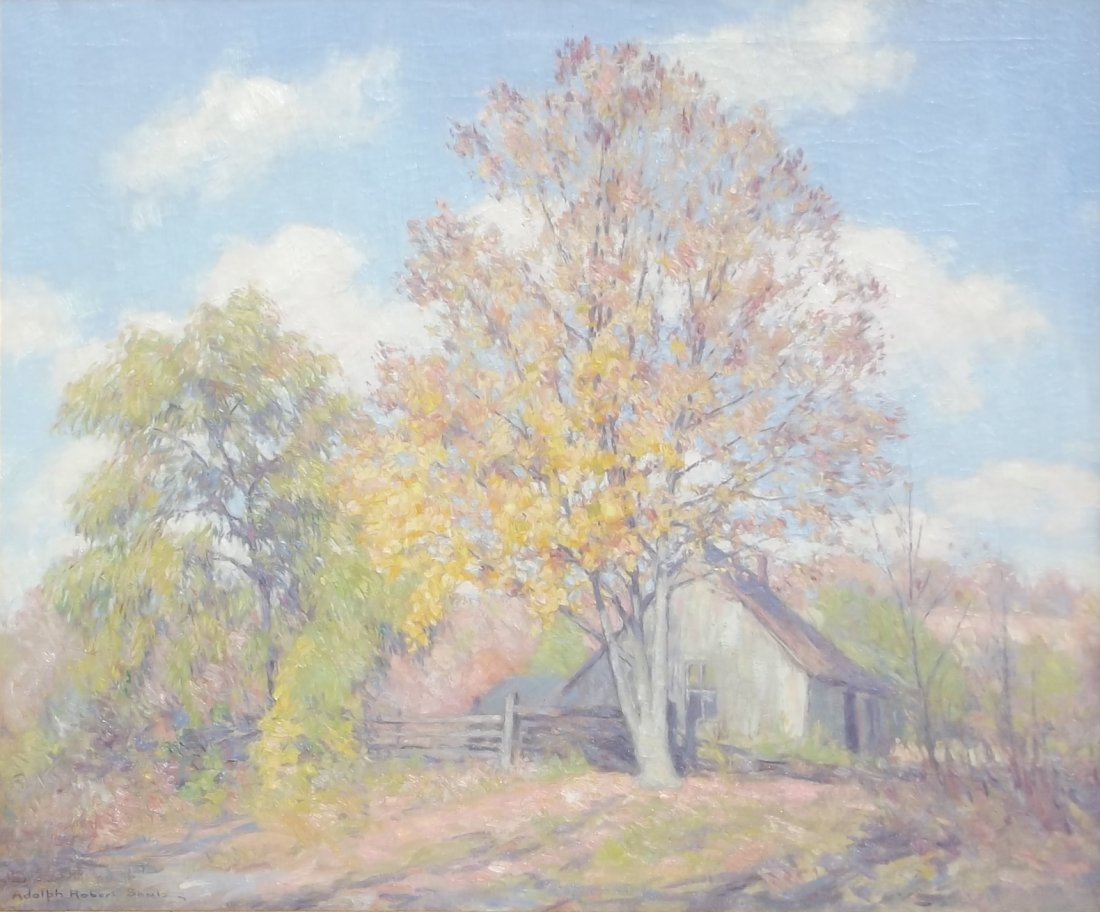 Adolph Robert Shulz: Brown County Cabin, Early Fall