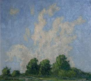 Adolph R. Shulz: Summer Landscape with Cloudy Blue Sky