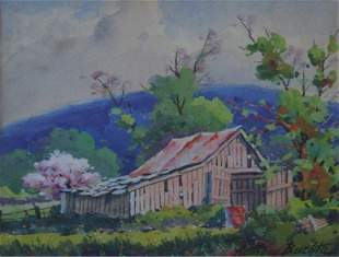 Anthony Buchta: Spring in Brown Co. with Barn