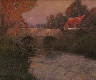 G. Ames Aldrich: Normandy Bridge with Figure