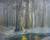 John Wesley Hardrick: Winter Woodland Landscape