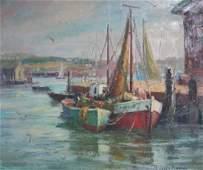Paula Raney Newman: East Coast Harbor Scene