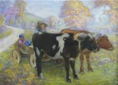 John Wesley Hardrick Attribution: Team of Oxen Pulling
