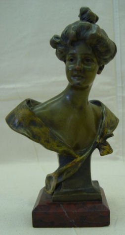 "6: Joris Vander Straeten, 8"" Bronze, signed, ""June"""