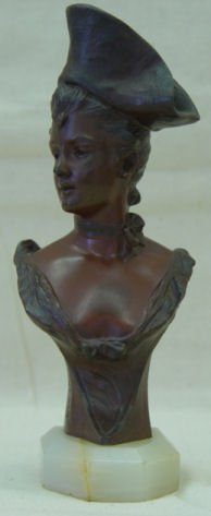 "11: Joris Vander Straeten, 7"" Bronze, signed, ""Theresa"""