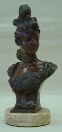 "16: Joris Vander Straeten, 6.75"" Bronze, signed, ""May"""