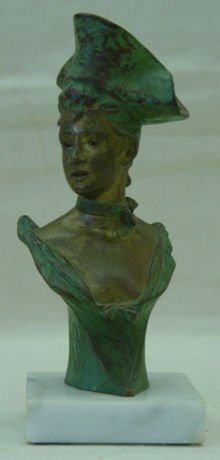 "17: Joris Vander Straeten, 6.5"" Bronze, signed, ""Theres"