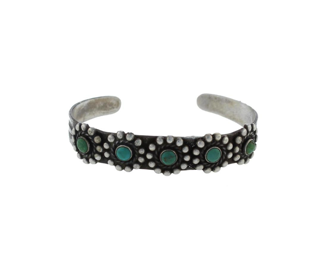 Sterling Silver  Turquoise Antique Fred Harvey Era