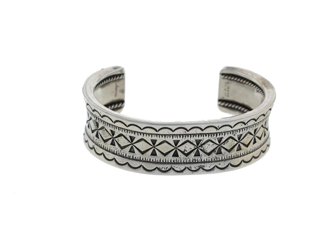 Sterling Silver Stamp Bracelet Navajo Native American