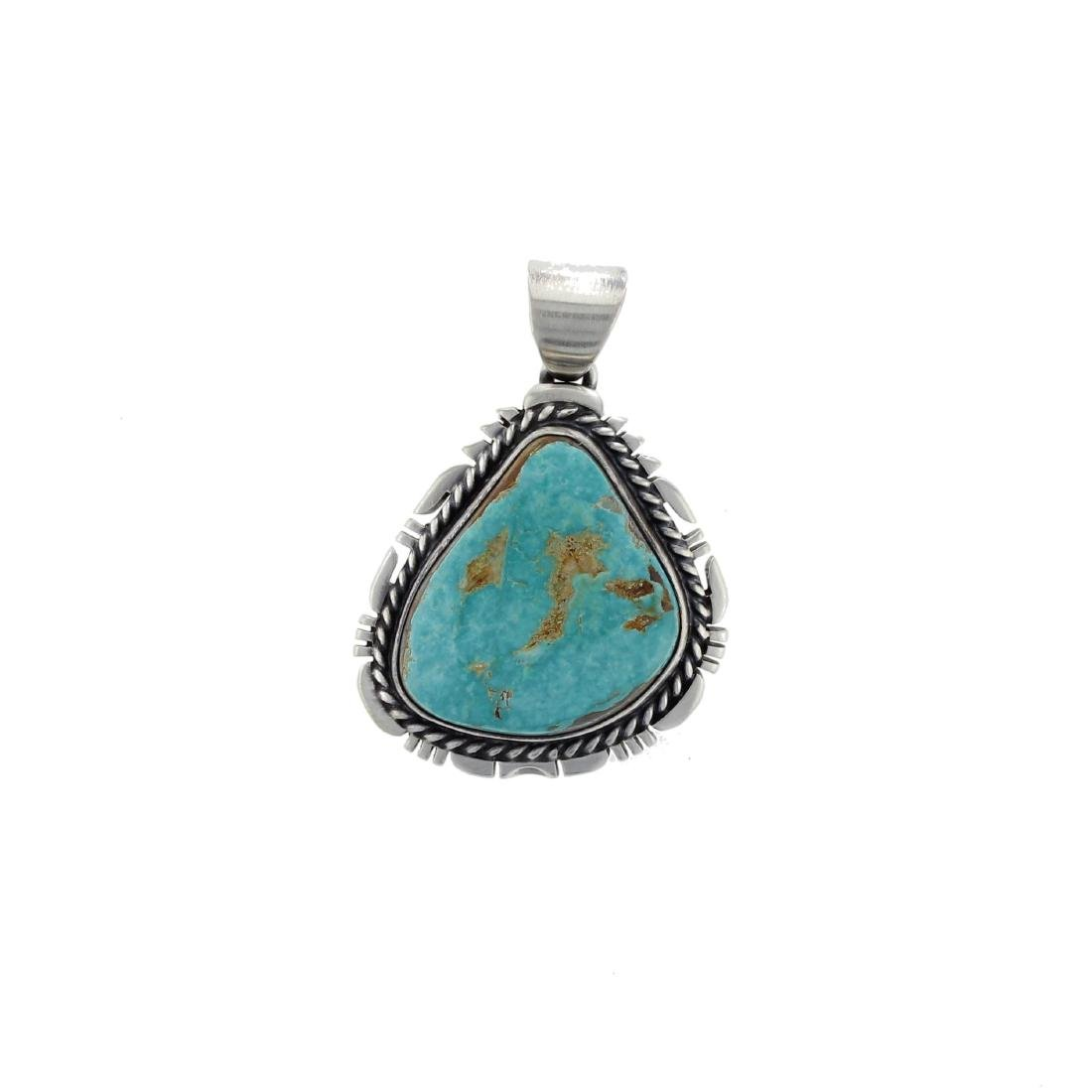 Sterling Silver  Turquoise Pendant Navajo native