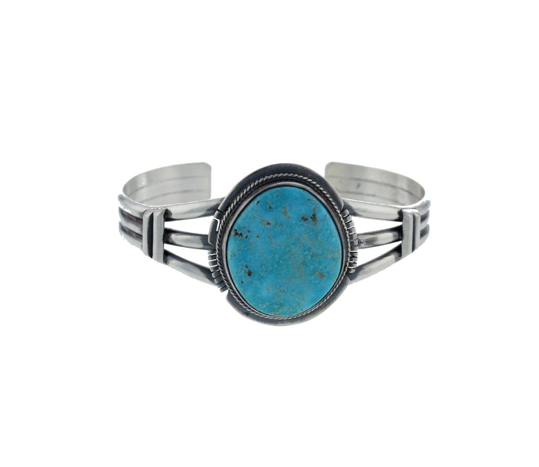Sterling Silver  Turquoise Bracelet Navajo Native