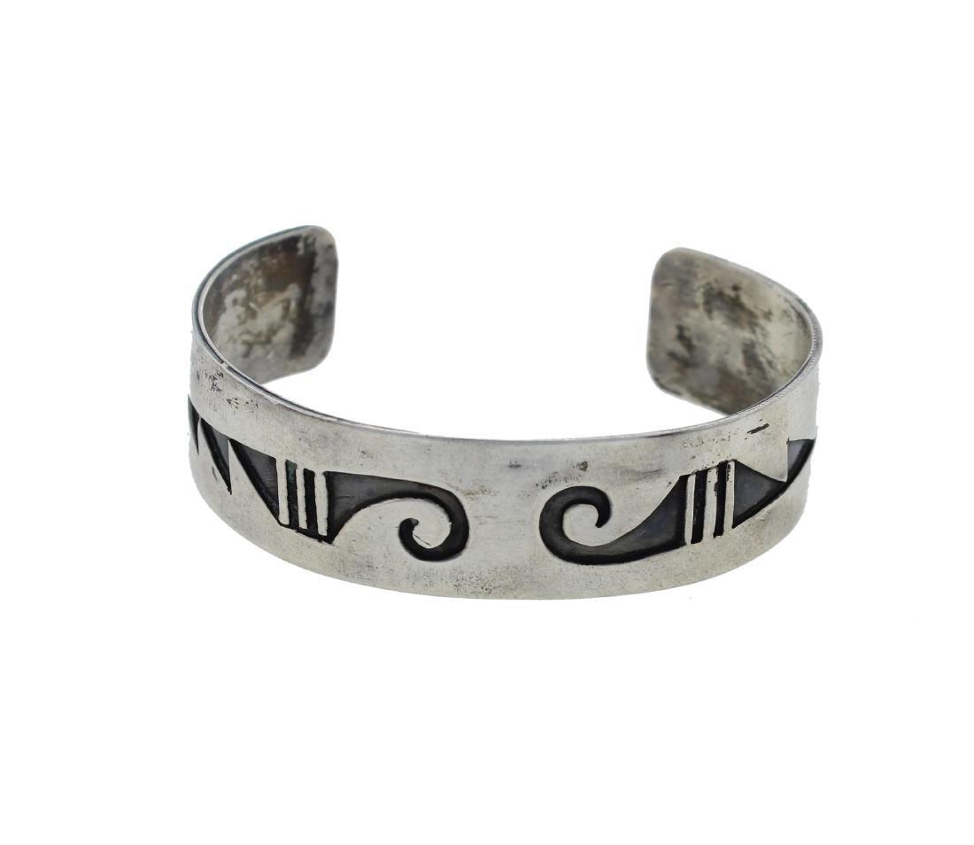 Sterling Silver  Bracelet Hopi Native American Indian