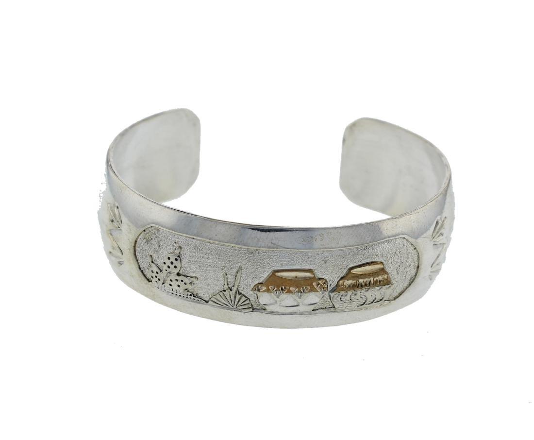 Sterling Silver Bracelet Navajo Native American Indian