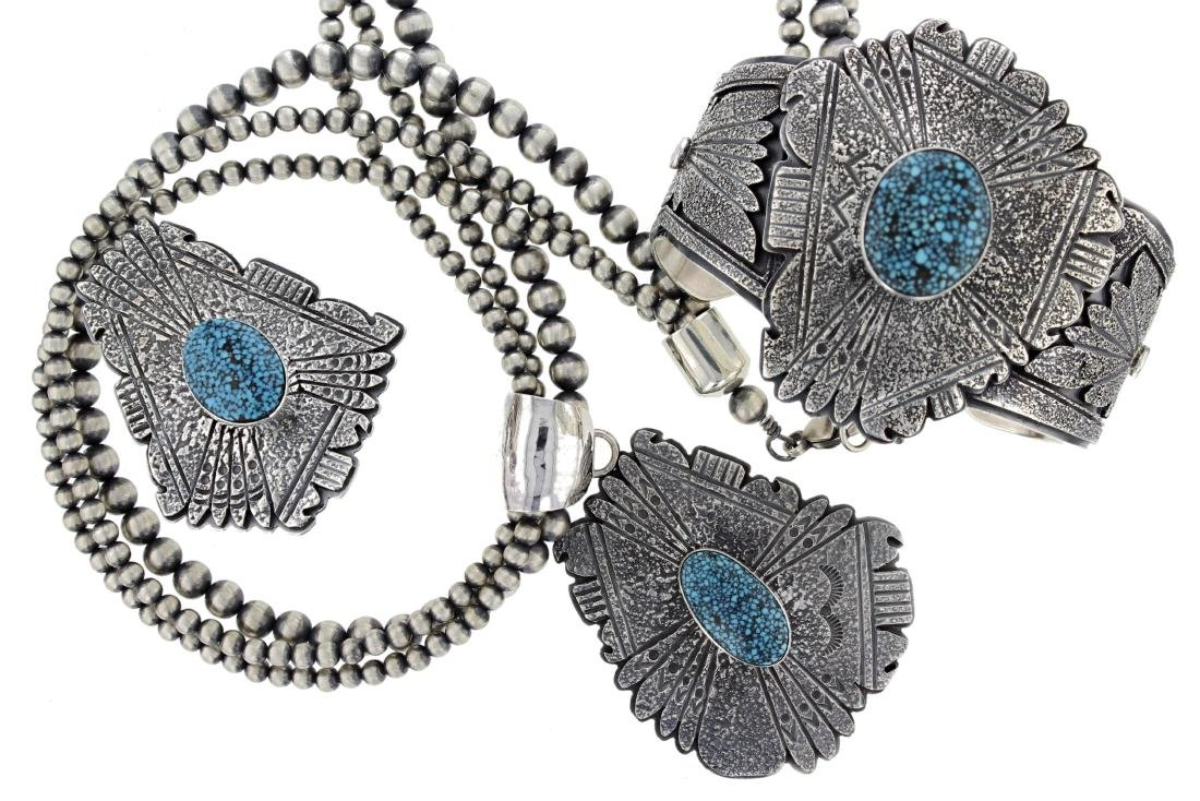 Sterling Silver  Turquoise Masterpiece Necklace