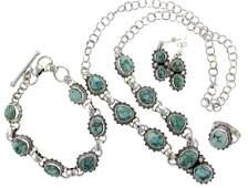 Sterling Silver  Turquoise Modern Necklace  Bracelet