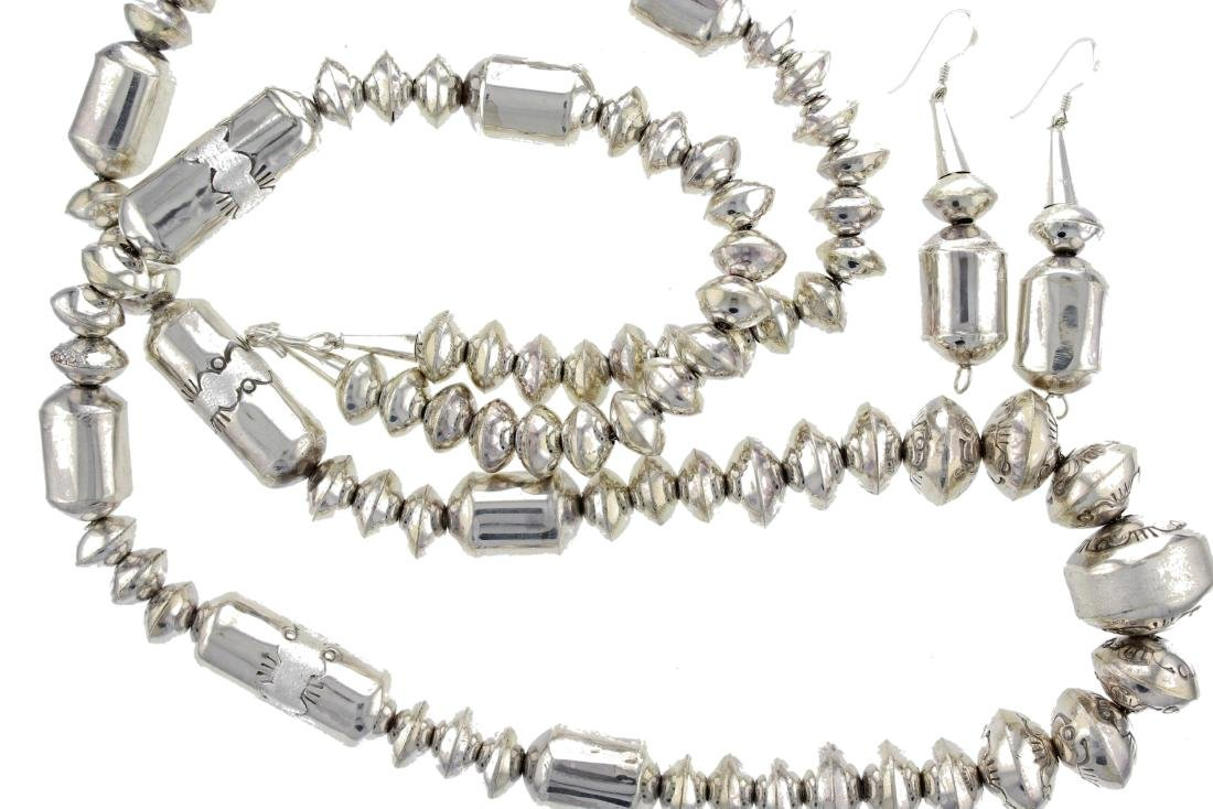 """Sterling Silver """" Navajo Pearls """" High Shine Beads"""