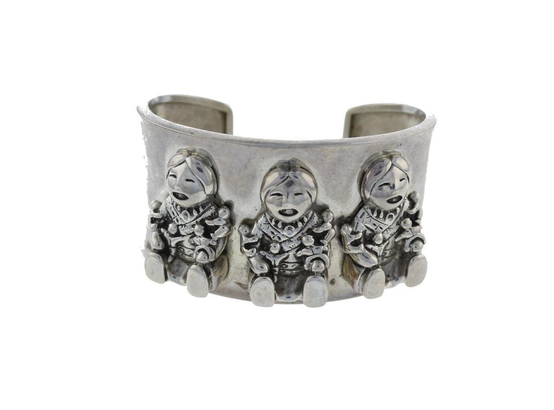 Sterling Silver 1980's Vintage Pop Out Bracelet Navajo