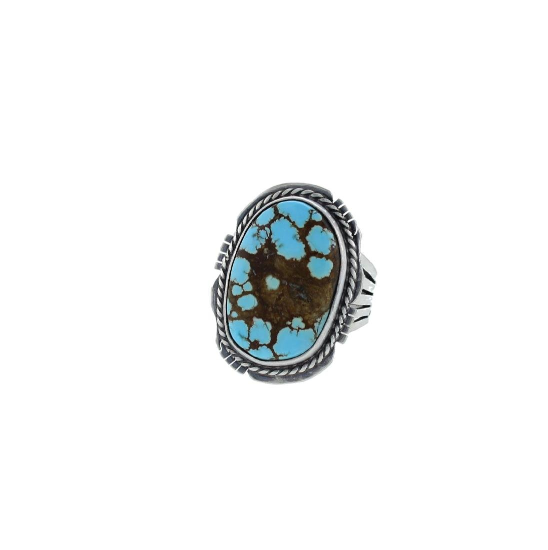 Sterling Silver  Turquoise Ring Navajo Native American