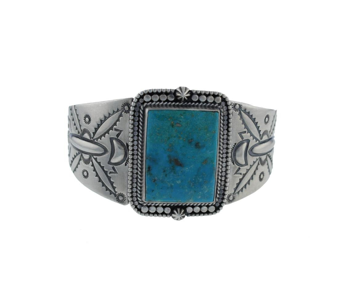 Sterling Silver  Turquoise Masterpiece Bracelet Navajo