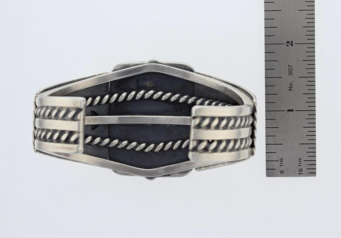 Sterling Silver  Turquoise Masterpiece Bracelet Navajo - 3