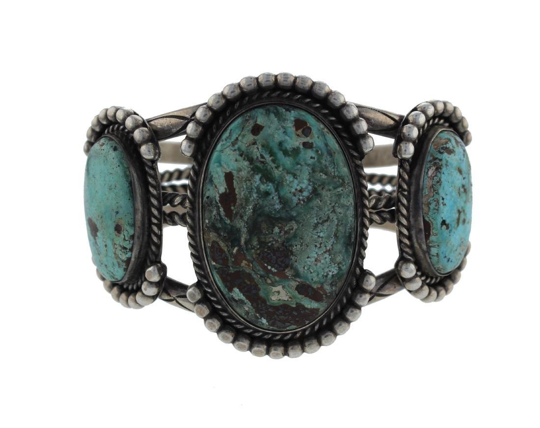 Sterling Silver  Turquoise Vintage Masterpiece Bracelet