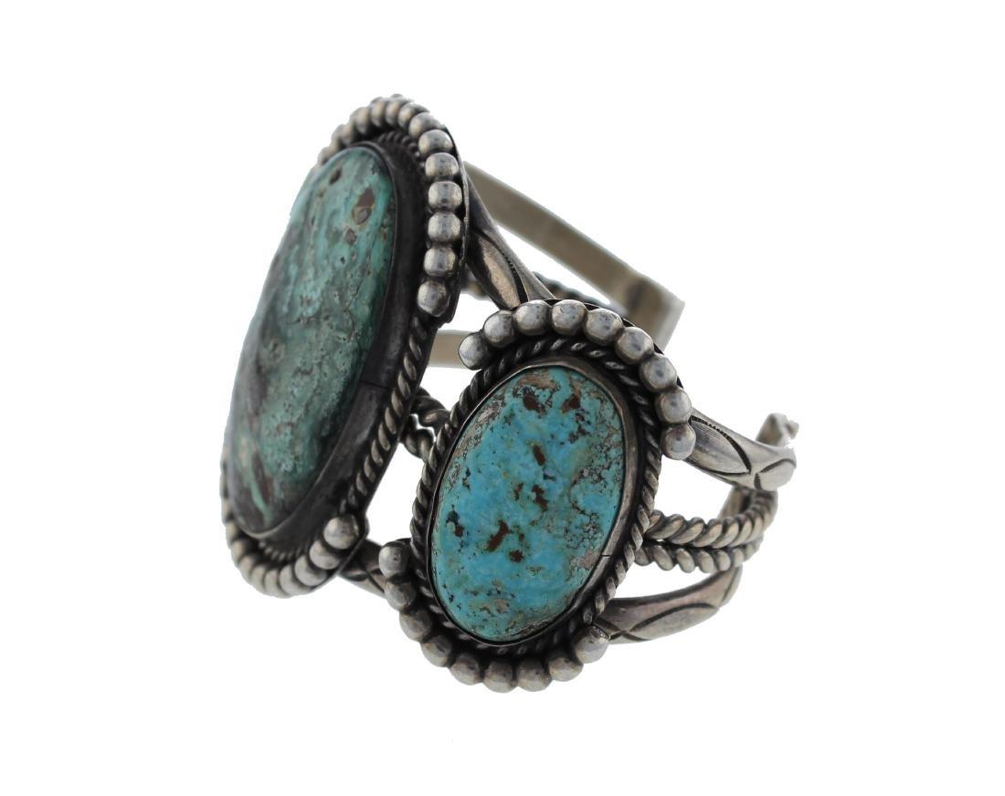 Sterling Silver  Turquoise Vintage Masterpiece Bracelet - 2