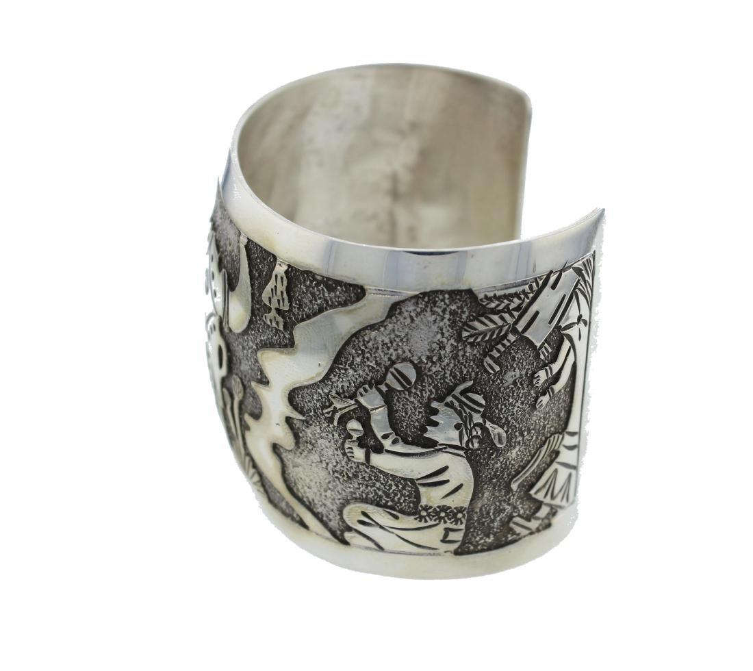 Sterling Silver Masterpiece Bracelet Navajo Native - 2