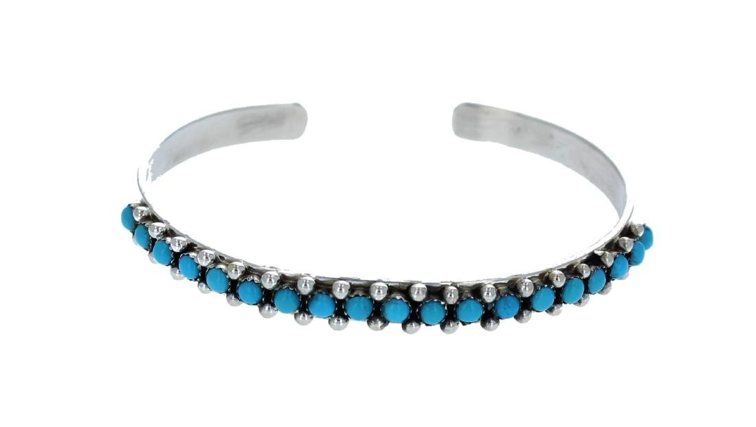 Sterling Silver  Sleeping Beauty Turquoise Bracelet