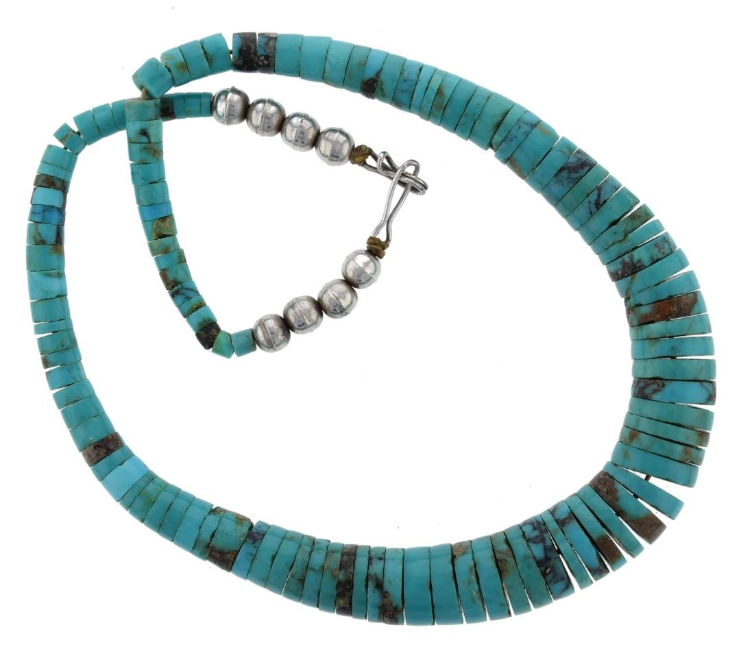 Sterling Silver  Turquoise Necklace Navajo Native