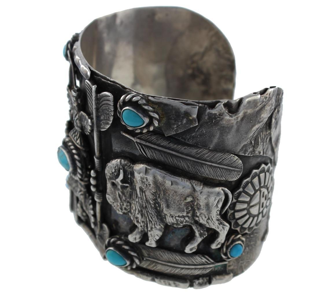 Sterling Silver  Turuqoise Antique Masterpiece Buffalo - 2