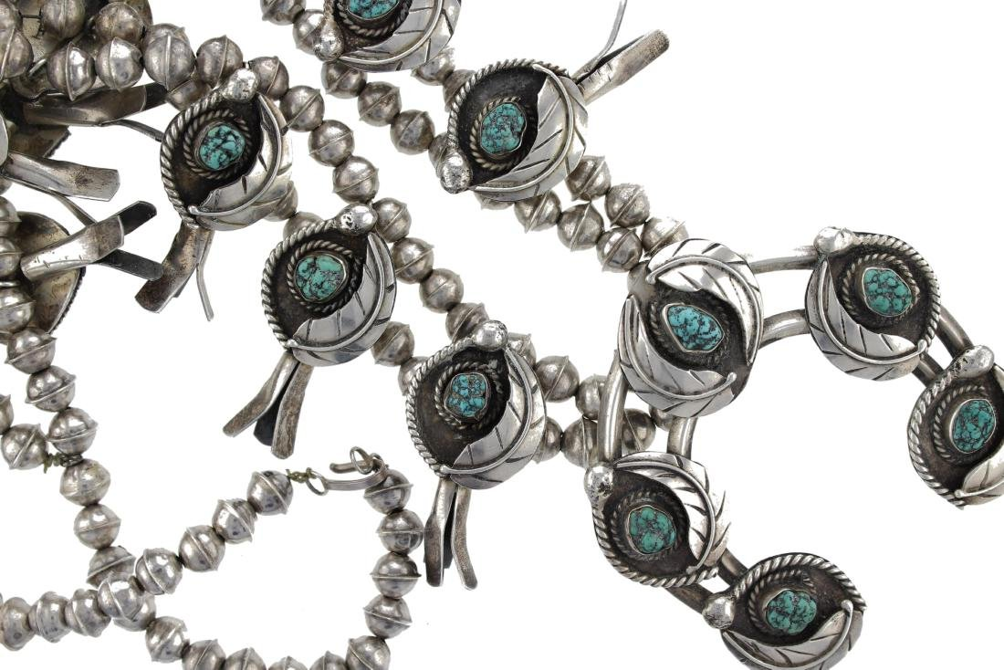 Sterling Silver Vintage  Turquoise Masterpiece Squash