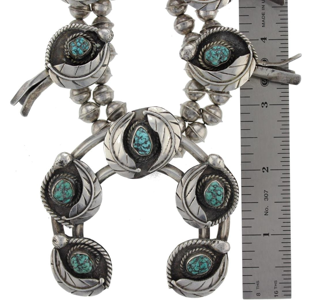 Sterling Silver Vintage  Turquoise Masterpiece Squash - 2