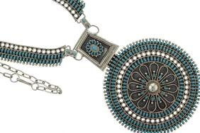 Sterling Silver Masterpiece Needle Point Turquoise