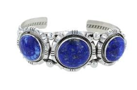 Sterling Silver Genuine Lapis Bracelet Navajo Native