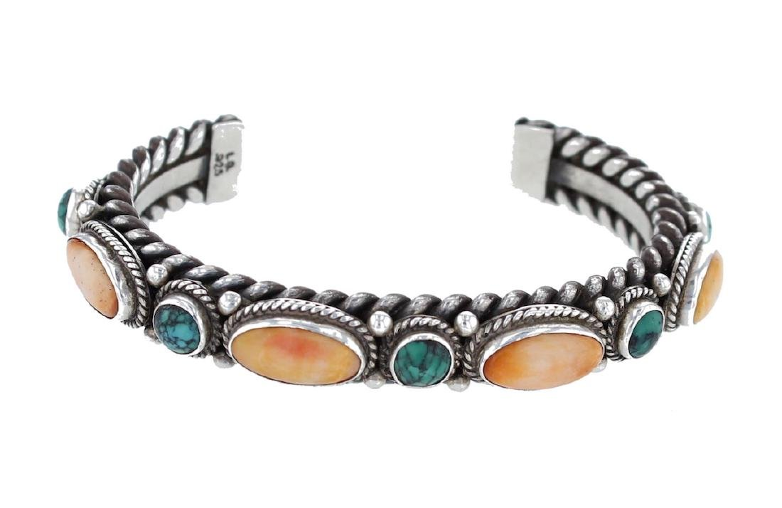 Sterling Silver Genuine Turquoise & Spiny Oyster