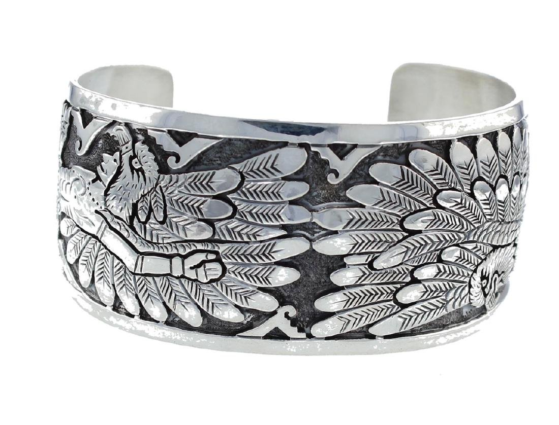 Sterling Silver Eagle Bracelet Navajo Native American