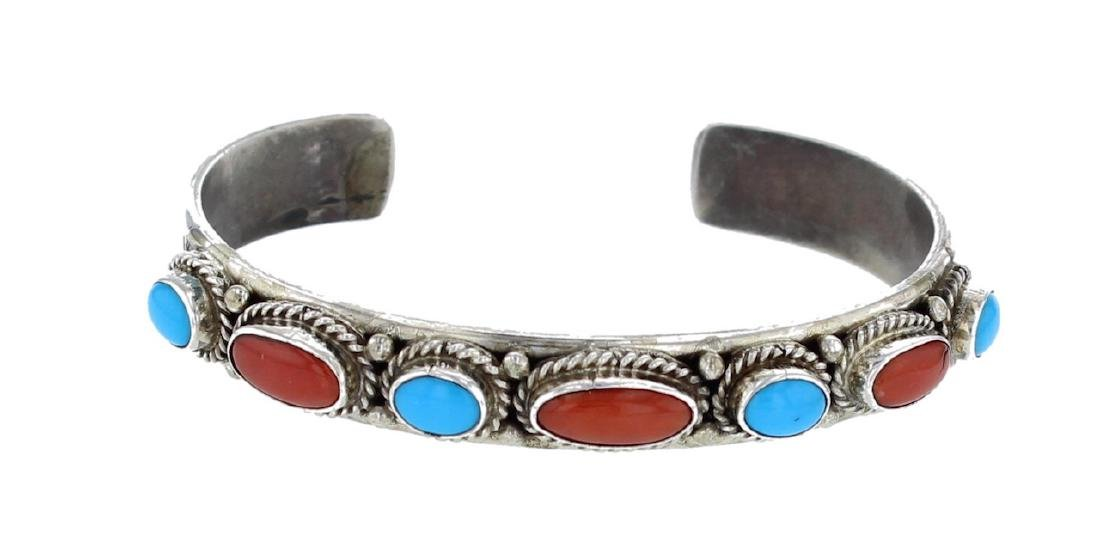 Sterling Silver Genuine Sleeping Beauty Turquoise &