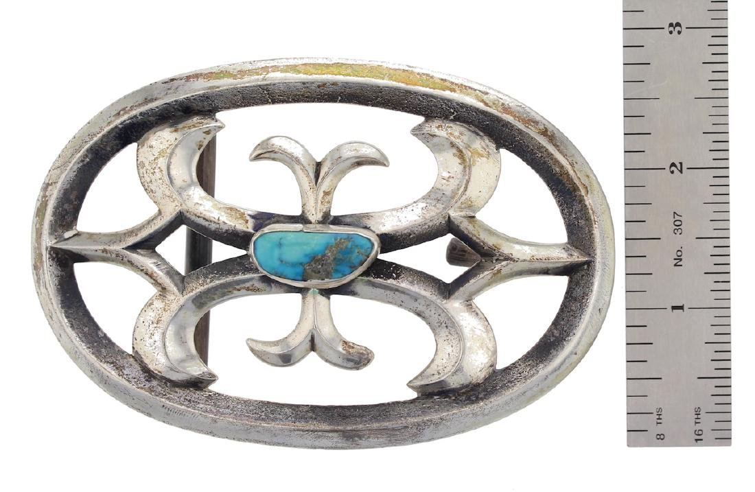 Sterling Silver Genuine Turquoise Antique Sand Cast - 2