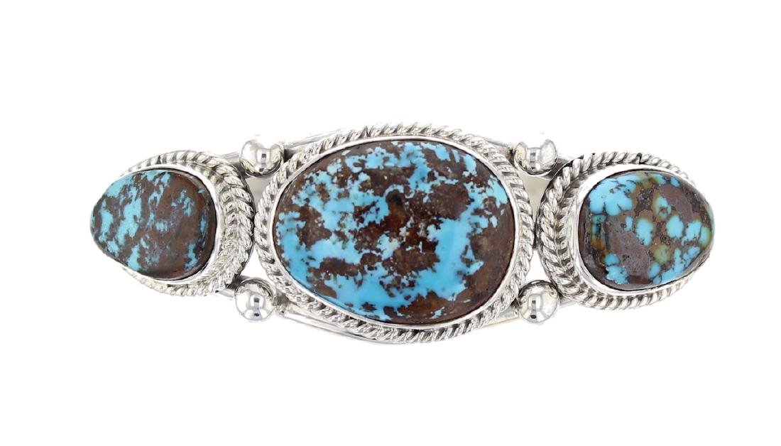 Sterling Silver Genuine Turquoise Classic Bracelet