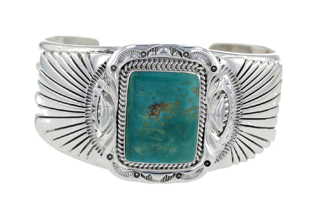 Sterling Silver Genuine Turquoise  Masterpiece Bracelet