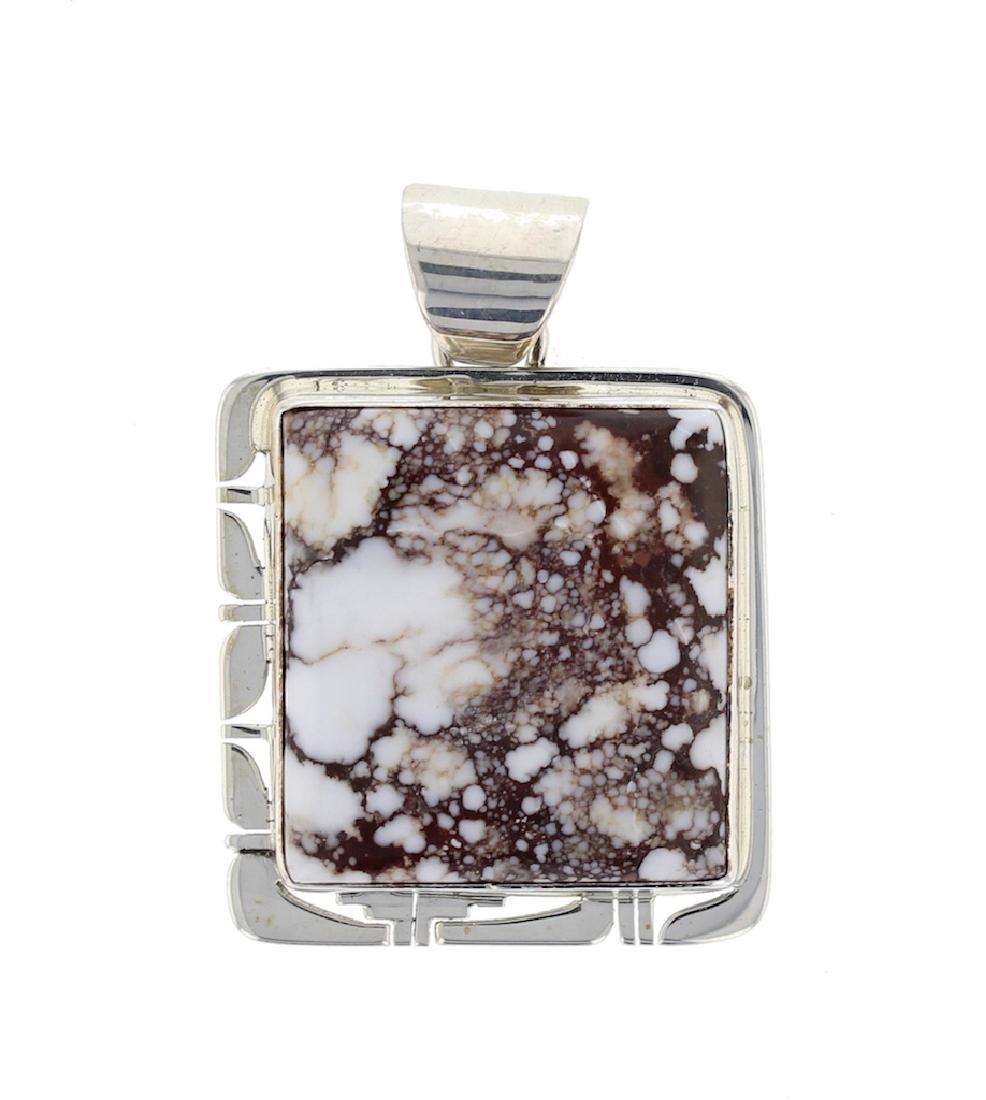 Sterling Silver Genuine Crazy Horse Magnesite Pendant