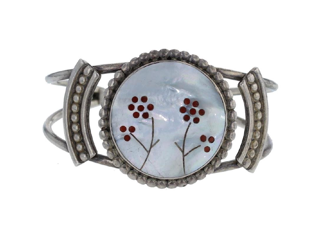 Sterling Silver Genuine Multi Stone Vintage Bracelet