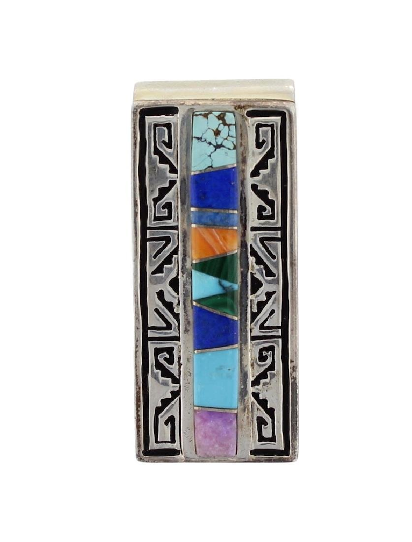 Sterling Silver Genuine Multi Stone Turquoise Money