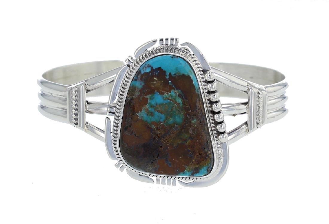 Sterling Silver Genuine Turquoise Bracelet Navajo