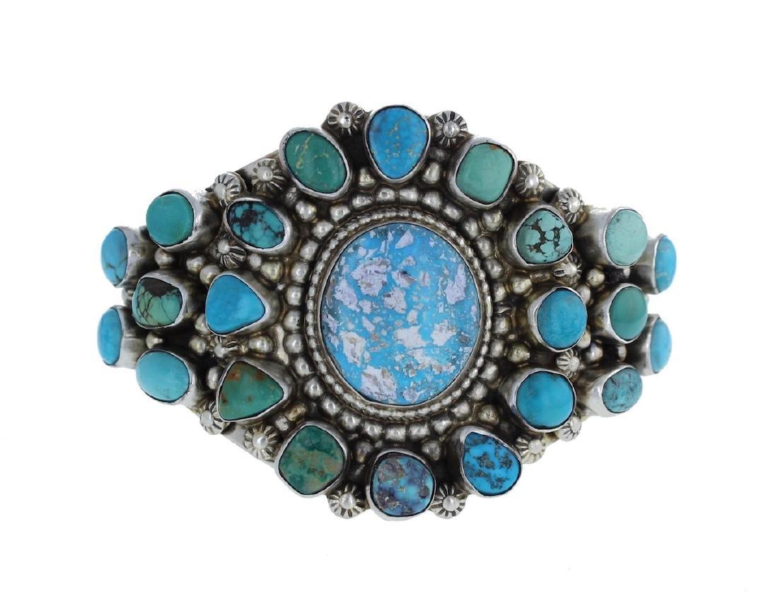 Sterling Silver Genuine Kingman Turquoise Masterpiece